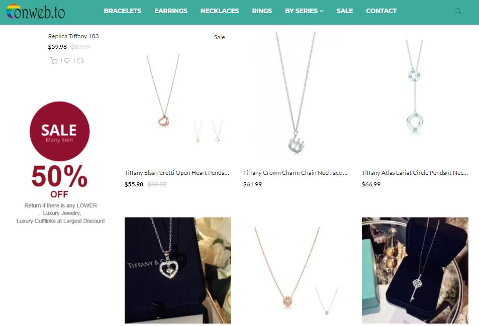 luxury replica Tiffany necklaces sale at Onweb.to