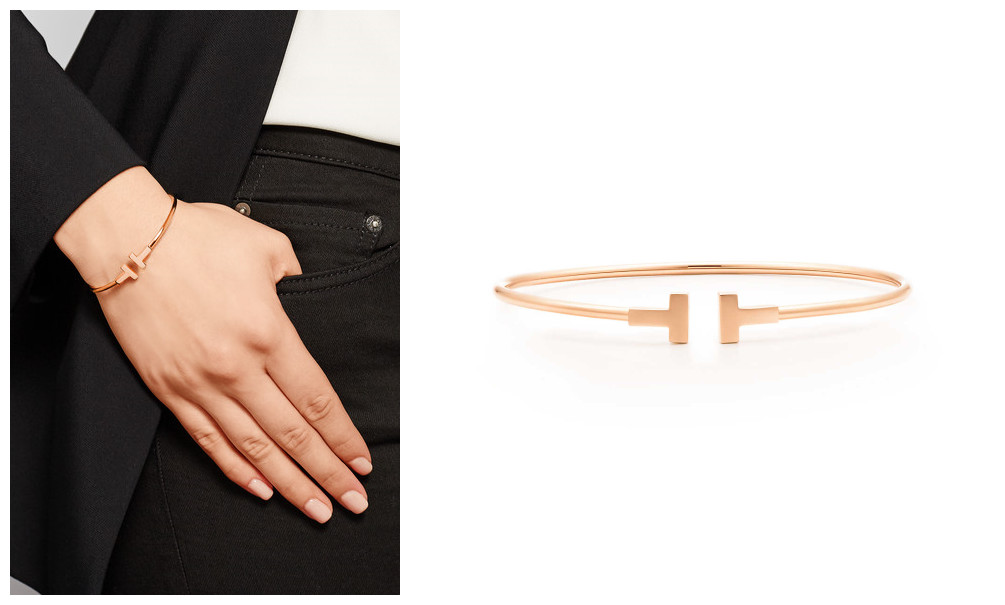 Replica Tiffany T Gold Narrow Wire Bracelet In 18k Rose Simple And Clean Lines Leave A Deep Impress On People The Embos
